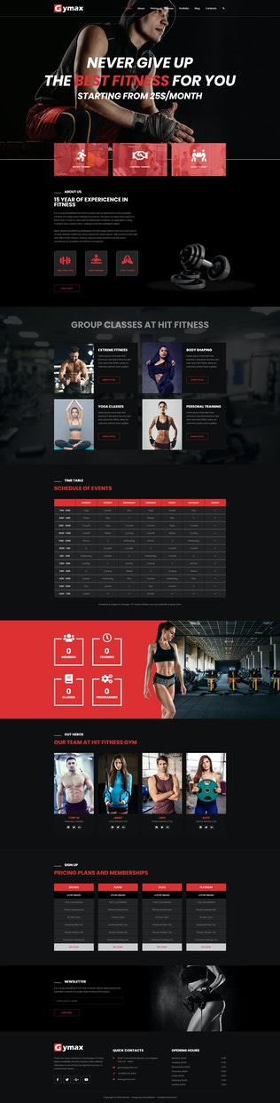 Thumbnail for Gymax - Gym, Fitness Template Kit