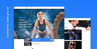 Thumbnail for Finess – Fitness Template Kit for Elementor