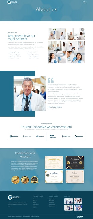 Thumbnail for Oxygon - Healthcare Medical Clinic Template Kit