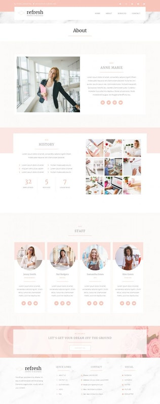 Miniatura para Refresh - Women's in Business Elementor Plantilla Kit