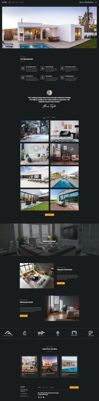Thumbnail for Alcor — Dark Real Estate Elementor Template Kit