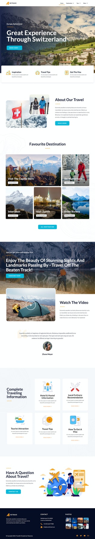 Thumbnail for Retrave | Travel Elementor Template Kit
