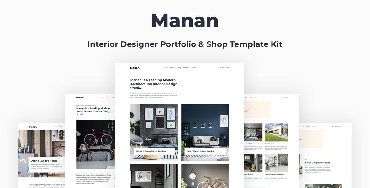 Manan Interior Designer Elementor Template Kit By Energeticthemes On Envato Elements