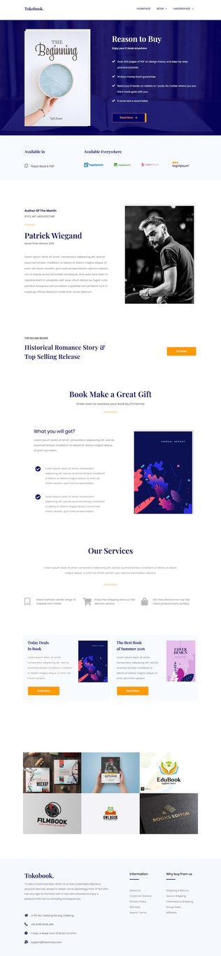 Thumbnail for Bookup | Book Elementor Template Kit