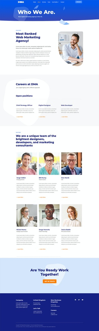 Thumbnail for DMA - Digital Marketing Agency Template Kit