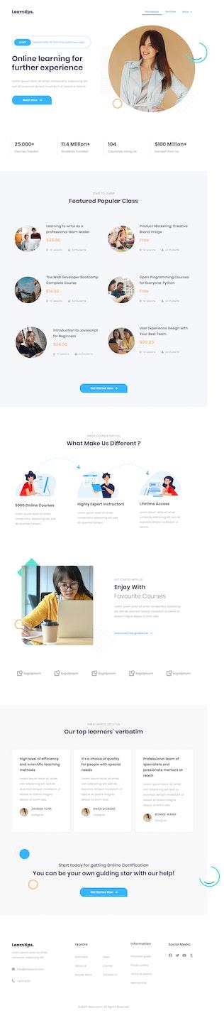 Thumbnail für Learnera   e-Learning Elementor Template Kit