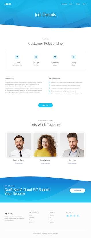 Thumbnail for Apper - App SaaS Elementor Template Kit