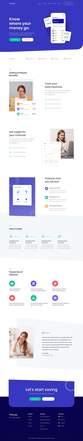 Thumbnail für Fiscale | Business & Services Elementor Template Kit