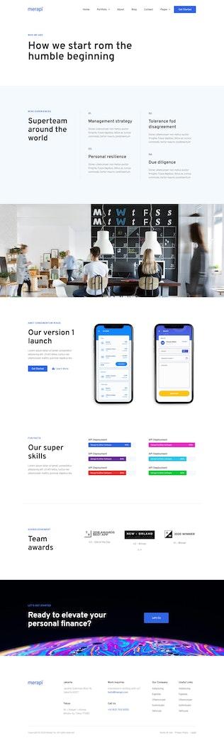 Merapi - Template Kit de Aplicación móviles y tecnología