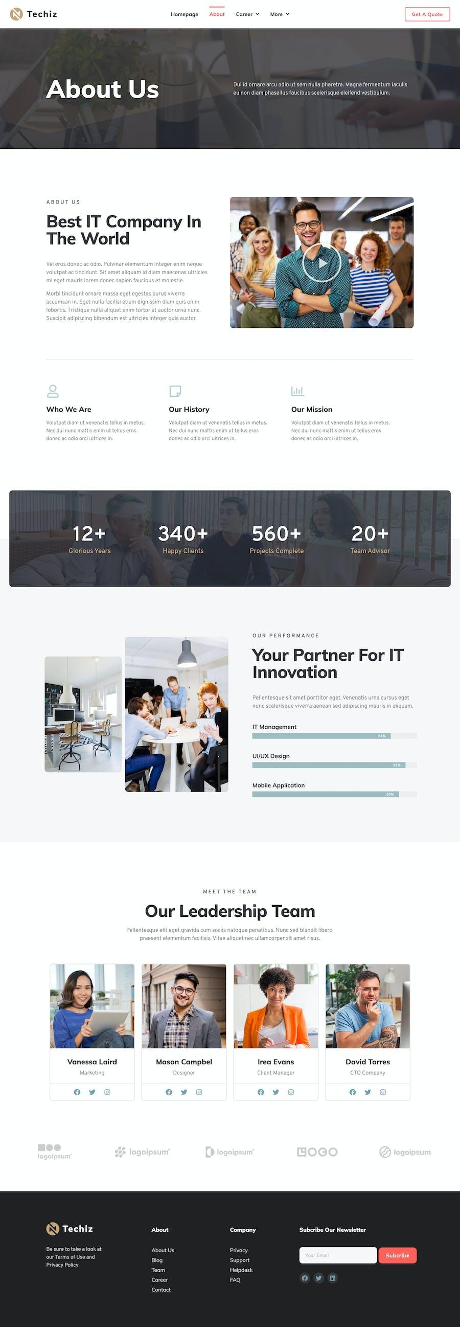 Techiz | Template Kit для начинающих и начинающих элементов