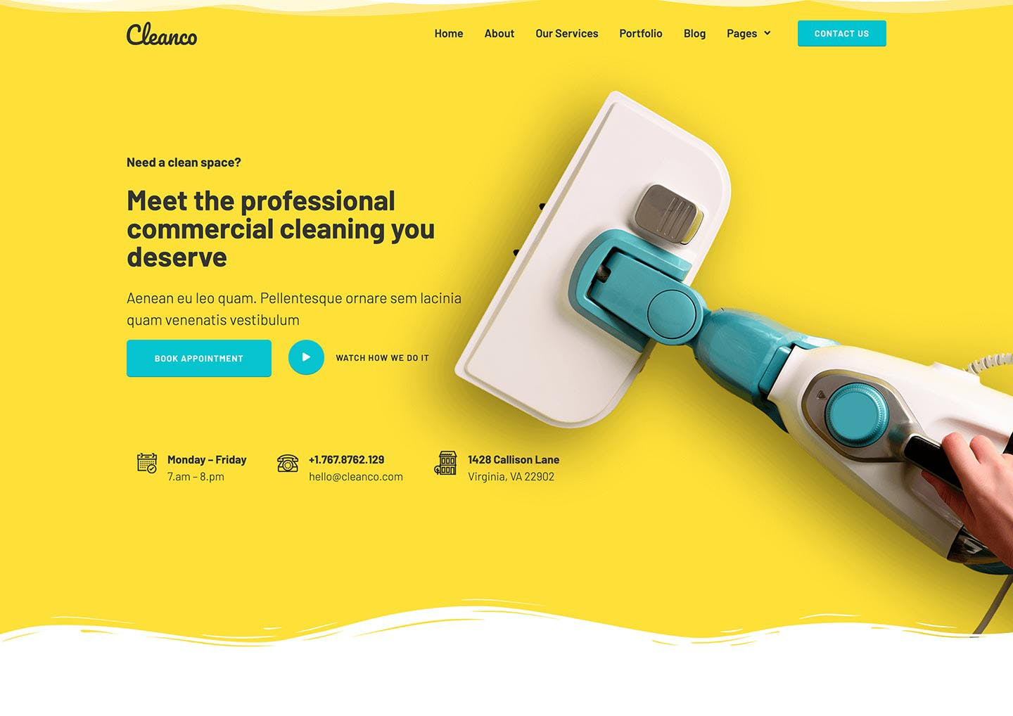 Cleanco - Cleaning Service Company Template Kit by deTheme on Envato Elements