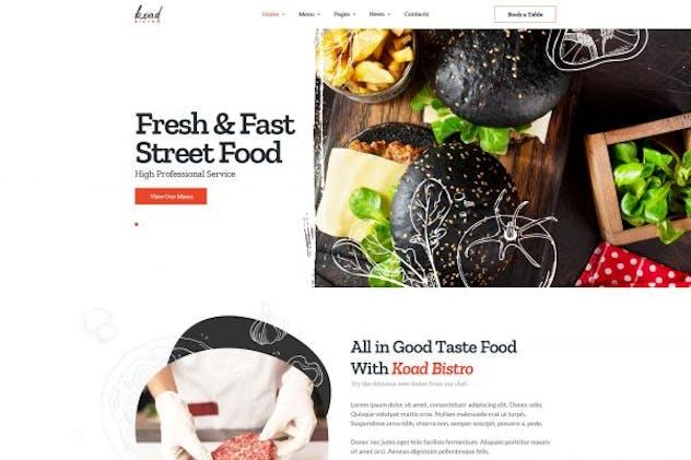 Koad - Restaurant & Bistro Elementor Template Kit by Nunforest on Envato Elements