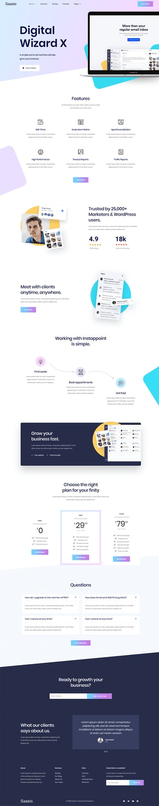 Thumbnail for Saasio - Saas & Startup Elementor Template Kit