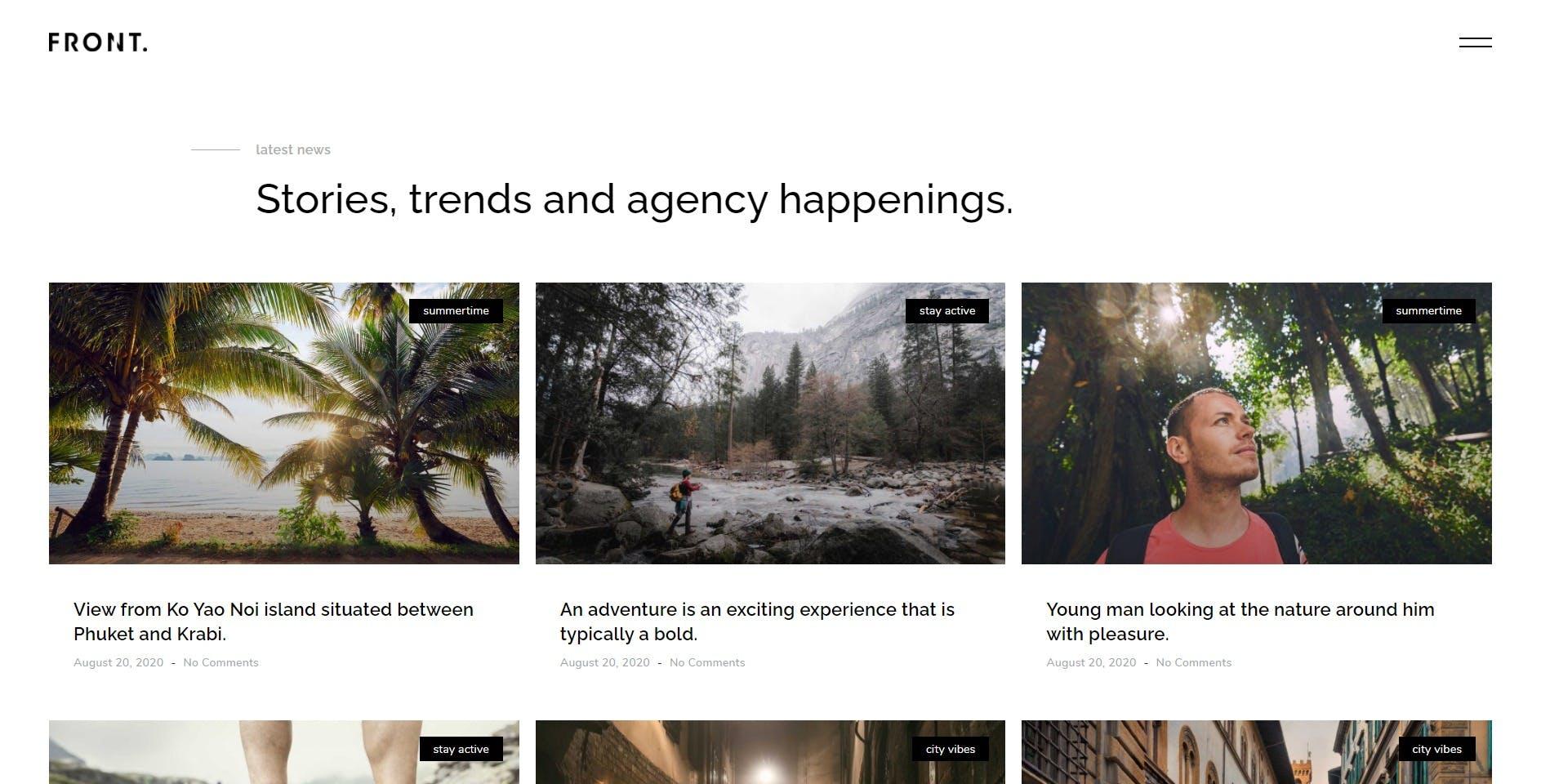 FrontFour - Template Kit de photographie créative par IG_design sur Envato  Elements
