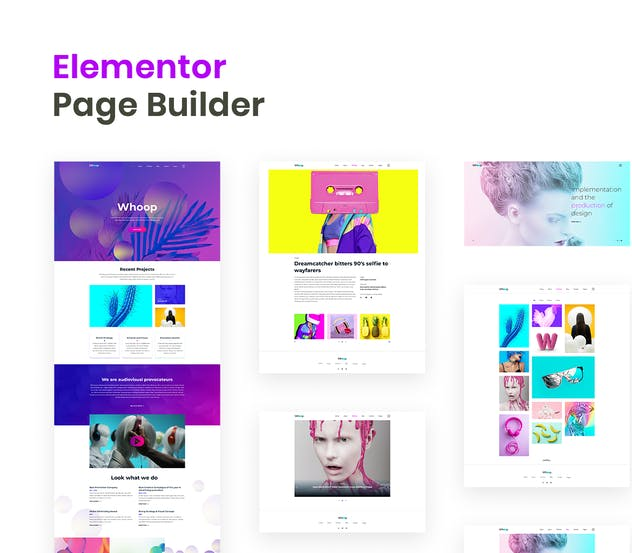 Whoop – Creative Agency Elementor Template Kit - product preview 3