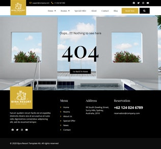 Thumbnail for Byra - Hotel & Resort Template Kit