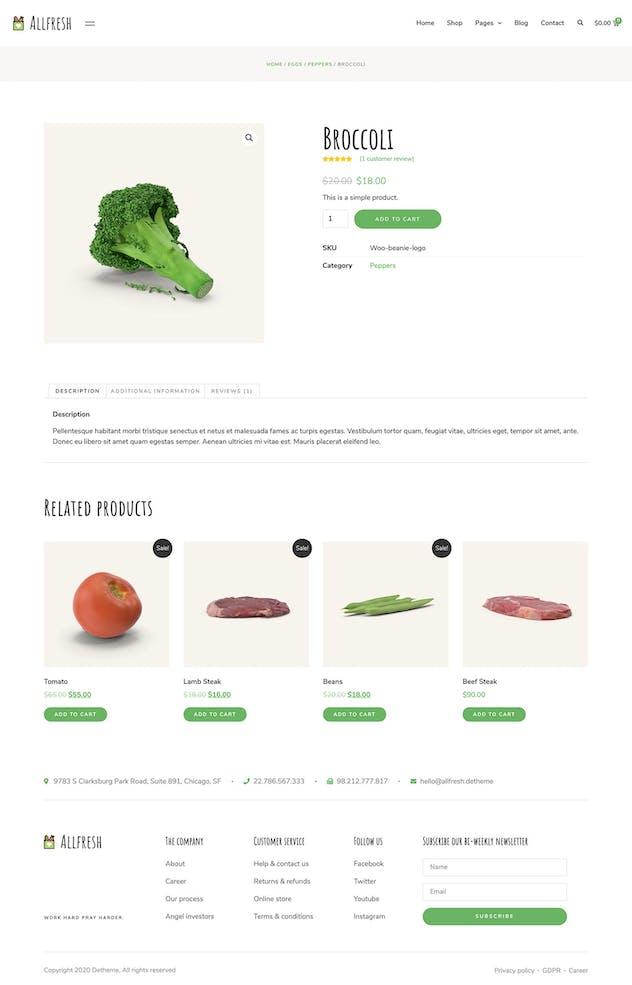 Allfresh - Grocery Store Template Kit