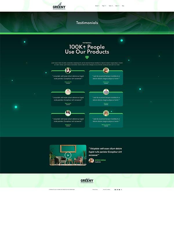 Greeny - Interior Elementor Template Kit