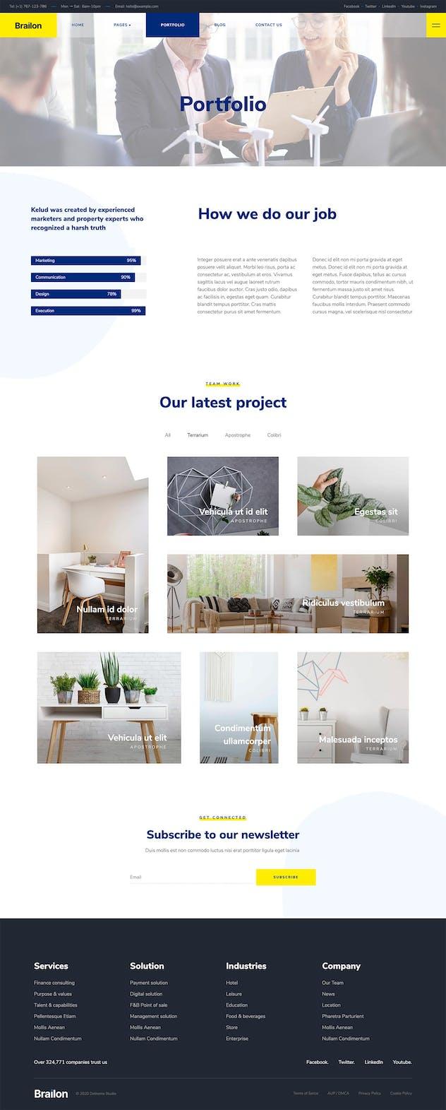 Brailon - Corporate & Portfolio Elementor Template Kit
