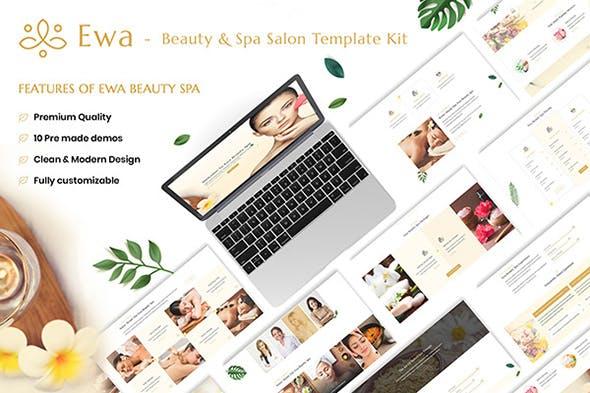 Ewa - Beauty & Spa Salon Elementor Template Kit - product preview 1