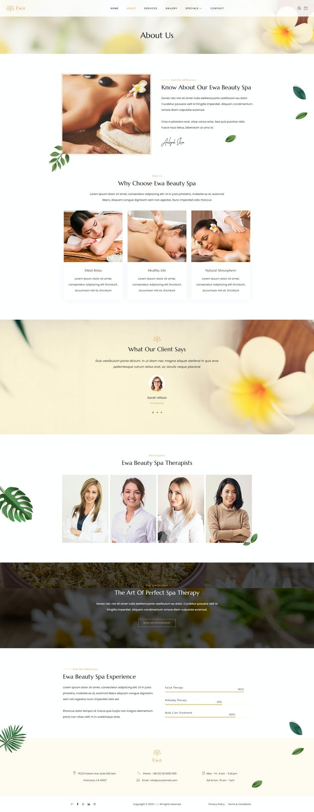 Ewa - Beauty & Spa Salon Elementor Template Kit - product preview 3
