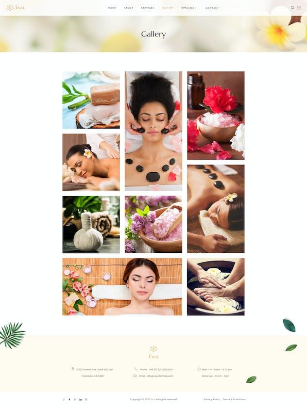Ewa - Beauty & Spa Salon Elementor Template Kit - product preview 5