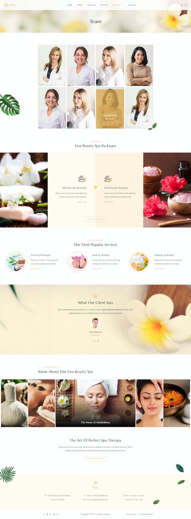 Ewa - Beauty & Spa Salon Elementor Template Kit - product preview 6