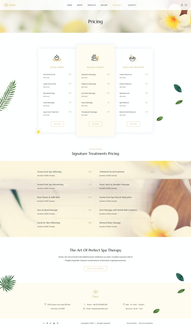 Ewa - Beauty & Spa Salon Elementor Template Kit - product preview 7