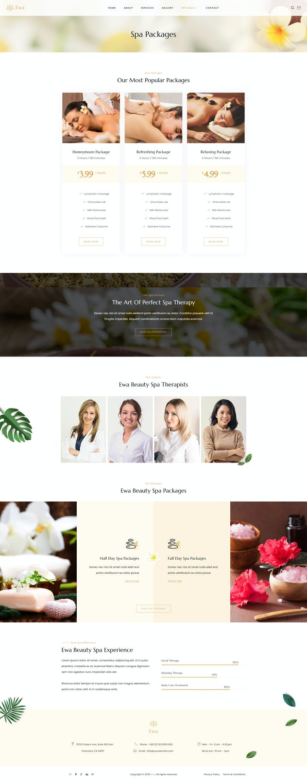 Ewa - Beauty & Spa Salon Elementor Template Kit - product preview 8