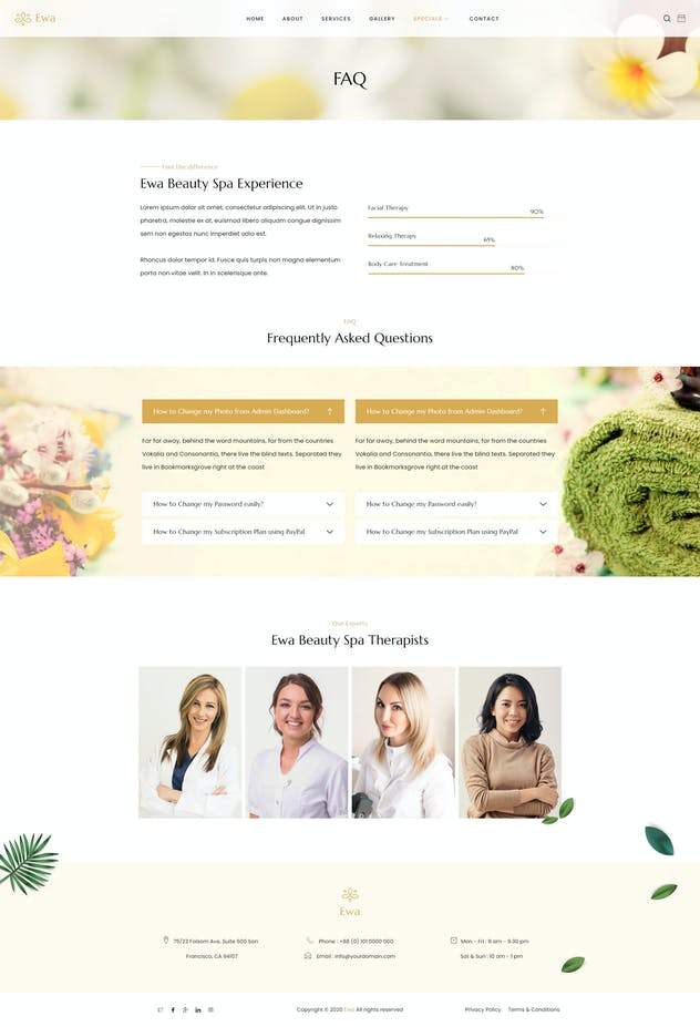 Ewa - Beauty & Spa Salon Elementor Template Kit - product preview 9