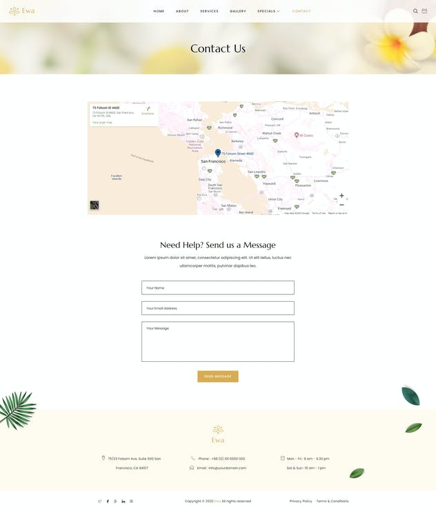 Ewa - Beauty & Spa Salon Elementor Template Kit - product preview 11