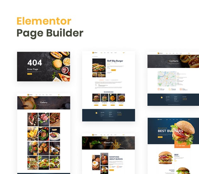 Burgos – Street Food Elementor Template Kit