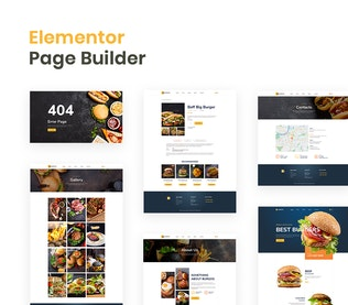 Thumbnail for Burgos – Street Food Elementor Template Kit