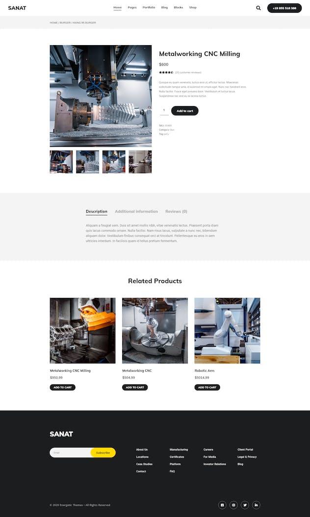 Sanat - Industry Elementor Template Kit