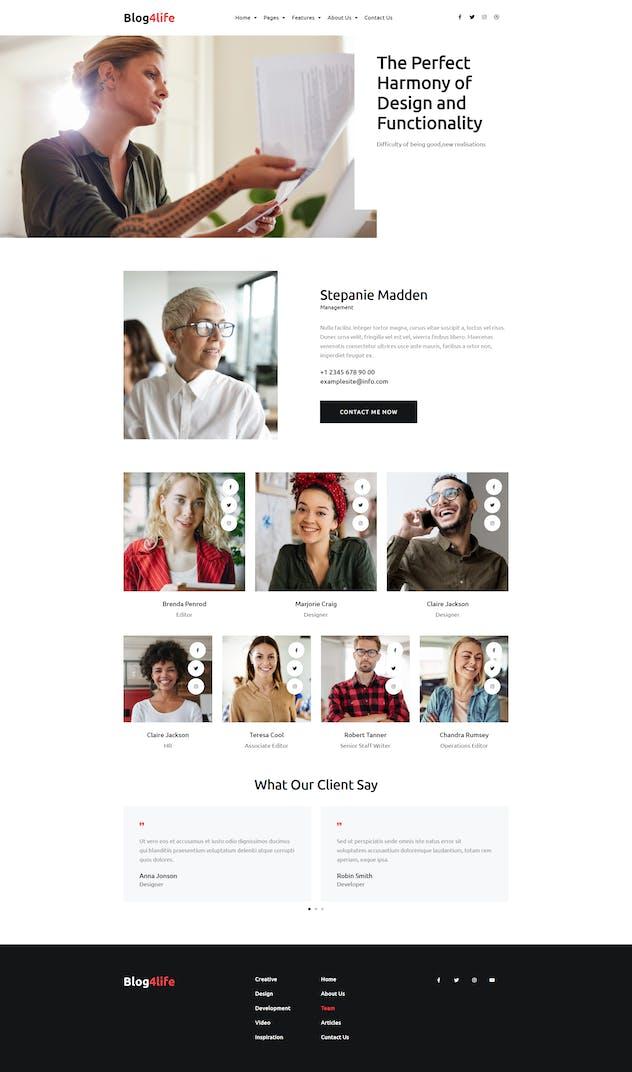 Blog4Life -  Blog & Magazine Elementor Template Kit