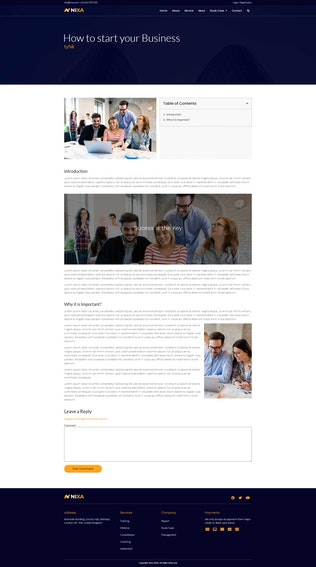 Nixa - Business & Services Elementor Template Kit