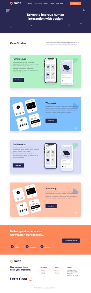Thumbnail for Raint - Digital Agency Elementor Template Kit