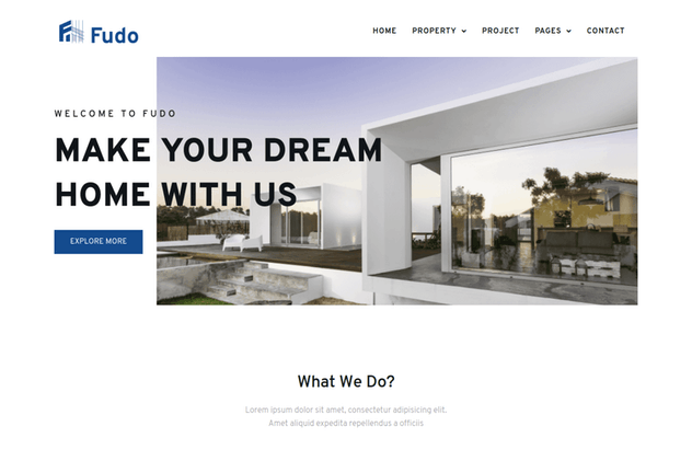 Fudo - Real Estate Elementor Template Kit - product preview 1