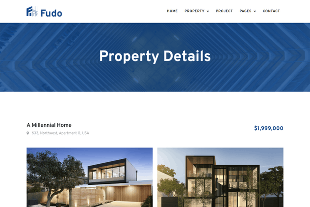 Fudo - Real Estate Elementor Template Kit - product preview 3