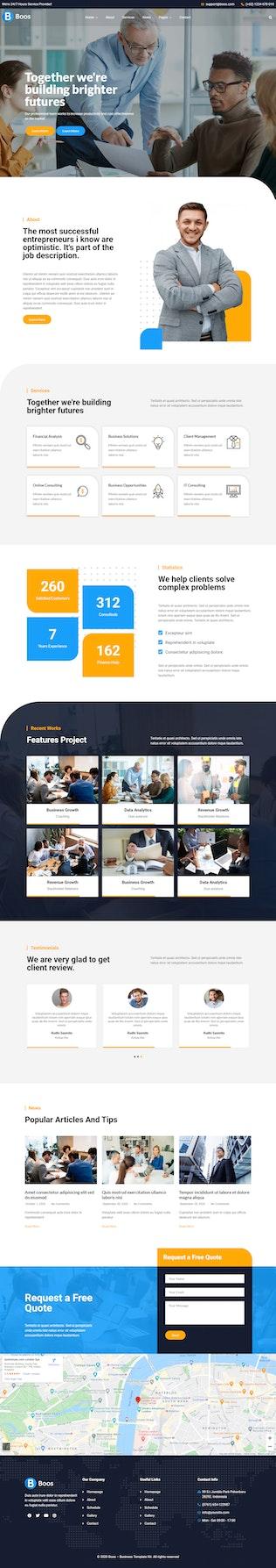 Boos - Template Kit de Business Elementor