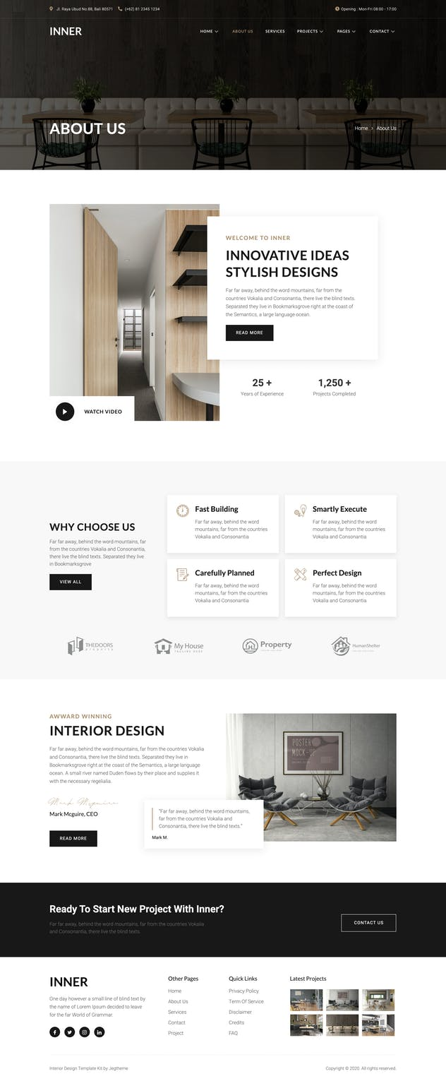 Inner – Interior Design & Architecture Template Kit - product preview 6