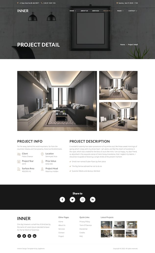 Inner – Interior Design & Architecture Template Kit - product preview 3