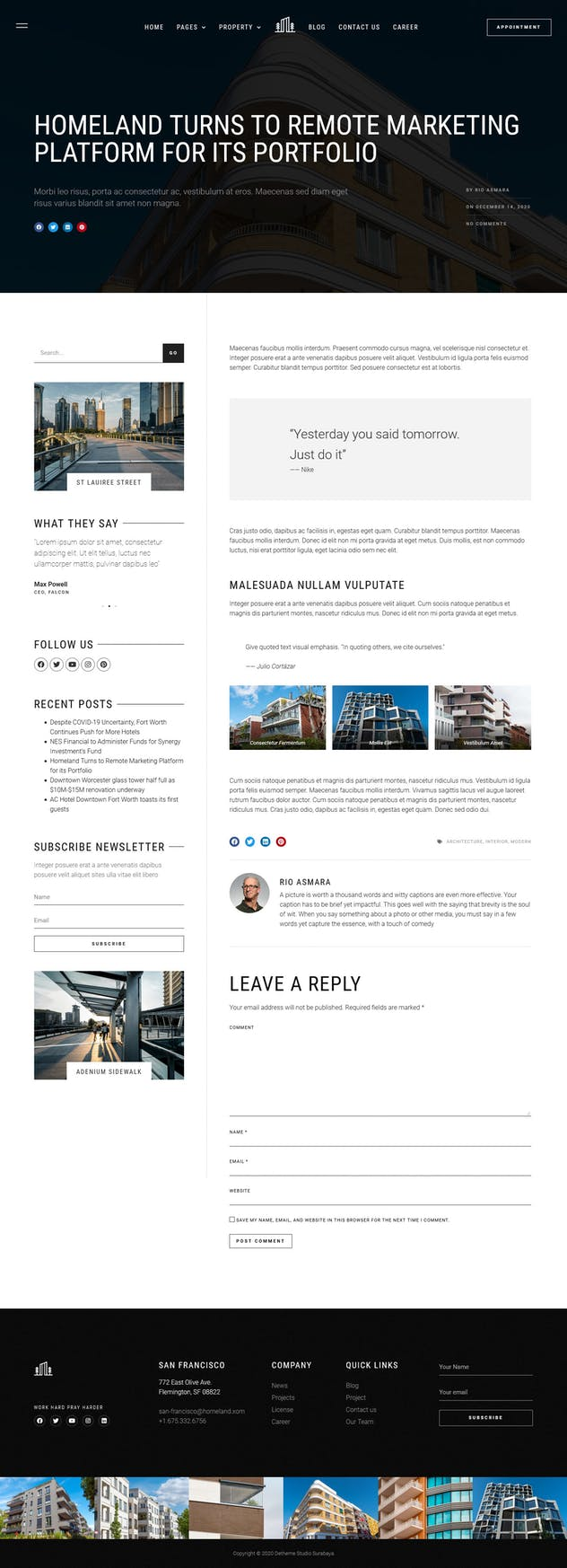 Homeland — Real Estate & Property Elementor Template Kit - product preview 16