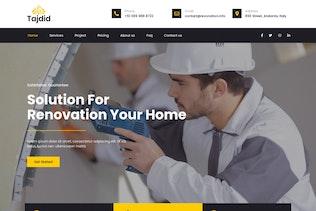 Tajdid - Renovierung Elementor Template Kit