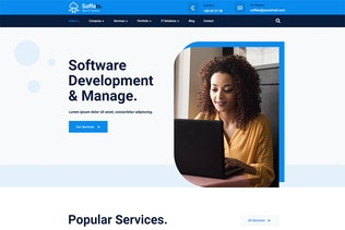Untersichten - Software & IT Service Elementor Template Kit