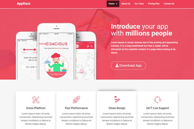 AppRaxx - App Landing Page Elementor Template Kit by envalab on Envato Elements